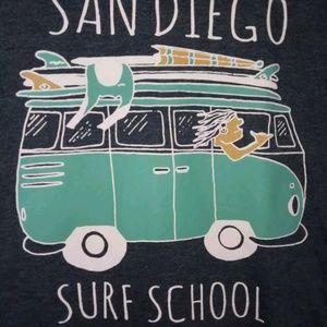 mens size lg van/surf t shirt